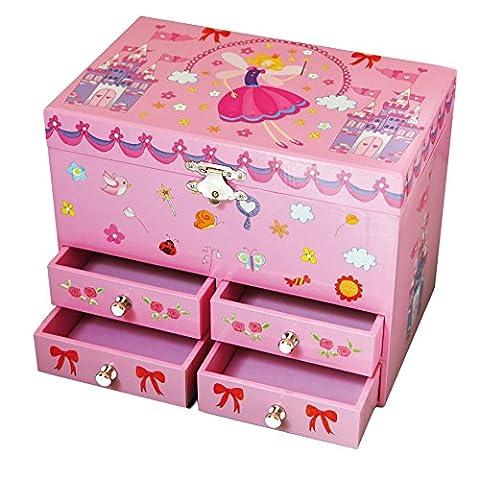 Boite Bijoux Fille - Trousselier - Princesse - Grande Boîte à