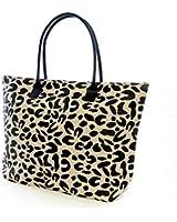 Womens/Ladies Animal Print Woven Summer Handbag