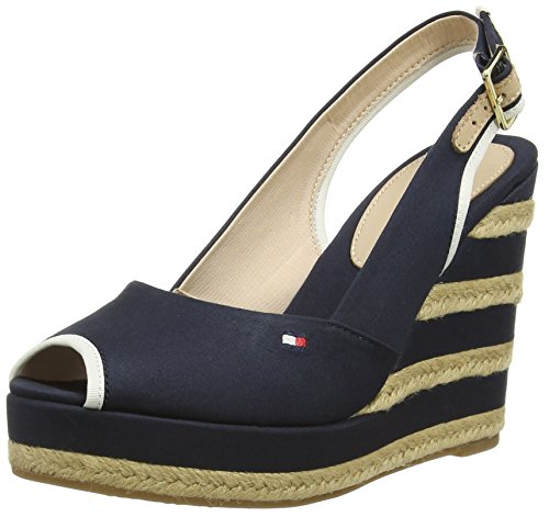 Tommy Hilfiger E1285LLEN 2d, Heels Sandals Donna, Blu (Midnight 403), 40 EU