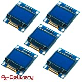 AZDelivery  5 x 128 x 64 Pixel 0,96 Zoll OLED I2C Display für Arduino und Raspberry Pi mit gratis eBook!