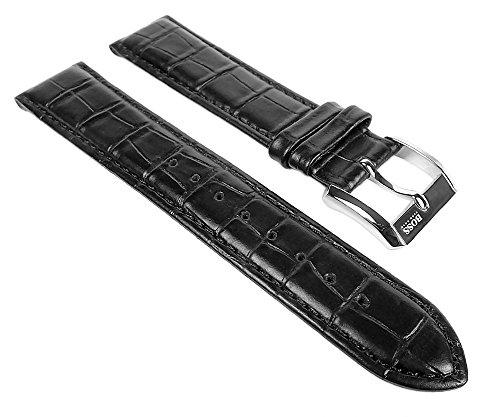 Hugo Boss Uhrenarmband Leder Band schwarz 20mm für 1512092 1512093 1512168 1512169 1512170