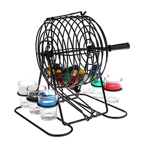 popchilli Bingo-Maschinen-Lotteriespiel, Mini-Bingo-Spiel Komplett Mit Kugel, Bar-Mini-Lotteriespiel, Weinglas-Spiel-Bingo-Lotteriespiel, Einschließlich Home-Entertainment-Firmenversammlungen Usw.