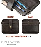 Generic Chalk Factory Brown Leather Credit Card Case
