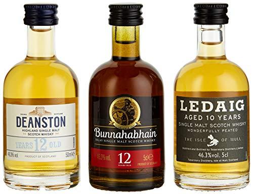 Miniaturenset Single Malts - Eine Schottische Whiskyreise - Bunnahabhain, Deanston und Ledaig  (3 x 0.05 l)