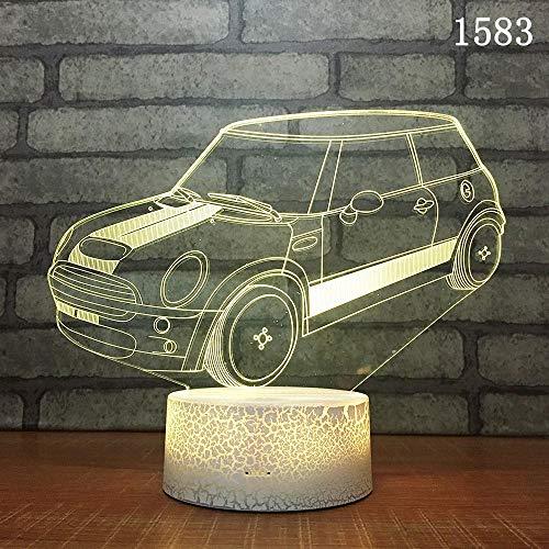 -farbiges geführtes kreatives Tätigkeits-Geschenk/Lampe 3d fertigten kleine Tabelle/geführtes Nachtlicht u Fernberührungsschalter besonders an ()
