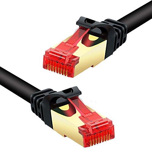 CAT.7 Gigabit Ethernet Lan Netzwerkkabel (RJ45) | 10/100/1000Mbit/FTP PIMF Schirmung | kompatibel zu CAT.5 / CAT.5e / CAT.6 | Switch/Router/Modem/Patchpannel/Access Point/Patchfelder 3m (Fast High-speed Wan Ethernet)