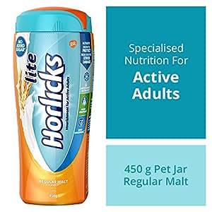 Horlicks Lite Health & Nutrition drink - 450 g Pet Jar (Regular Malt)