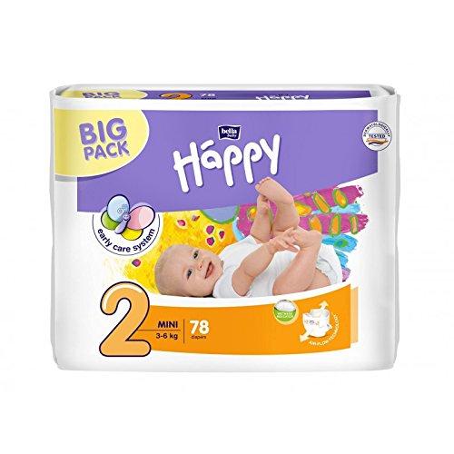 Bella Baby Happy Windeln groß 2 - Mini, 3-6 kg, 1er Pack (1 x 78 Stück)