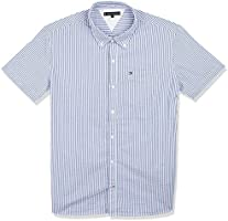 Tommy Hilfiger Boy's Seersucker Short Sleeve Shirt