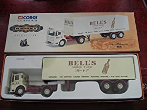 "Corgi Whisky Collection 21303 ""BELLS"" AEC Ergomatic with Box Trailer 1:50 Scale by Corgi Classics"
