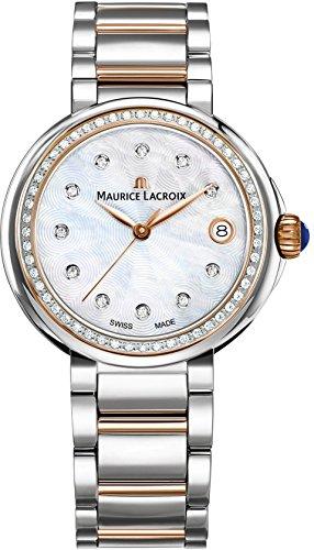 Maurice Lacroix Fiaba Round FA1007-PVP23-170-1 Damenarmbanduhr mit echten Diamanten