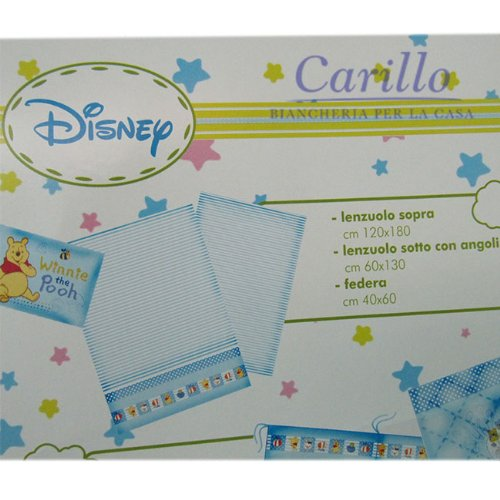 Lenzuola Lettino Winnie The Pooh.Completo Lenzuola Lettino Culla Disney Winnie The Pooh Baby 100 Cot
