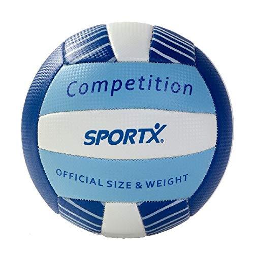 SportX 0724336 Voleibol - Voleibol (21 cm, Azul, Monótono, PAK, 200 mm, 200 mm)