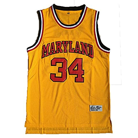 34 Len Bias Maryland Terps Basketball Jersey College Jersey Throwback