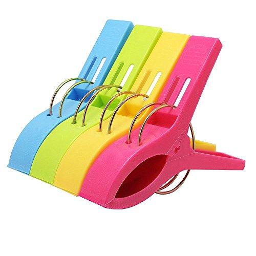 westeng Set di 4grandi in plastica antivento appendere i vestiti PEG lenzuola clip Rack clip (Piegare I Vestiti Rack)