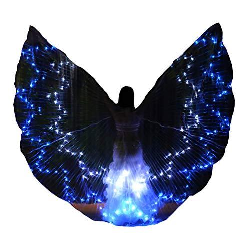 Ein Art Bauchtanz Von Einer Kostüm - Jolie Erwachsene Damen LED Flügel Leuchtender Stern Bauchtanz-Umhang Glühend Bühnenkostüm für Karneval Halloween Weihnachtsfeier,Patternd