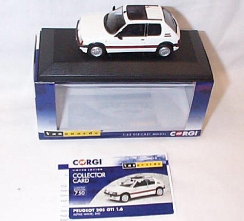 corgi-vanguards-peugeot-205-gti-16-alpine-white-rhd-car-143-scale-diecast-model