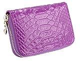 iSuperb Portefeuille Femme en Cuir Porte-Monnaie Holder Wallet Carte Titulaire Coin Purse Sac à Main 11.5x8x3.5 cm (Violet)