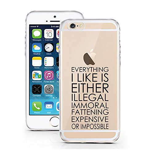 iPhone 7 Hülle von licaso® für das Apple iPhone 7 aus TPU Silikon Can't Stop thinking about it - BUY it Fashion Design Muster ultra-dünn schützt Dein iPhone 7 & ist stylisch Case Design Schutzhülle Bu Everything I like