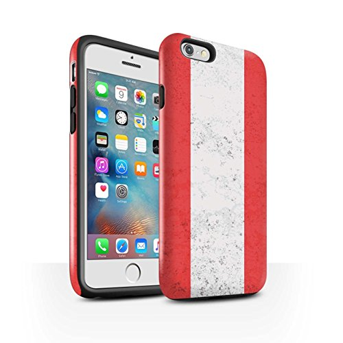 Coque Brillant Robuste Antichoc de STUFF4 / Coque pour Apple iPhone 6 / Russie Design / Drapeau Collection Autriche/Autriche