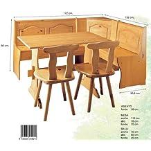 La Factoría Muebles - Conjunto rinconera + mesa + 2 sil, talla 172x134x86