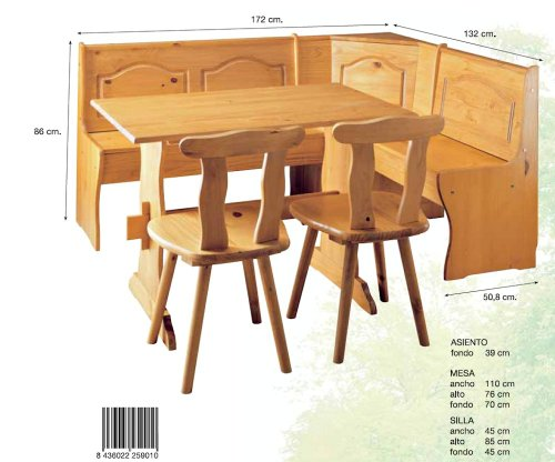 Mesas de cocina de madera las mejores mesas de 2018 for Mesa rinconera para cocina