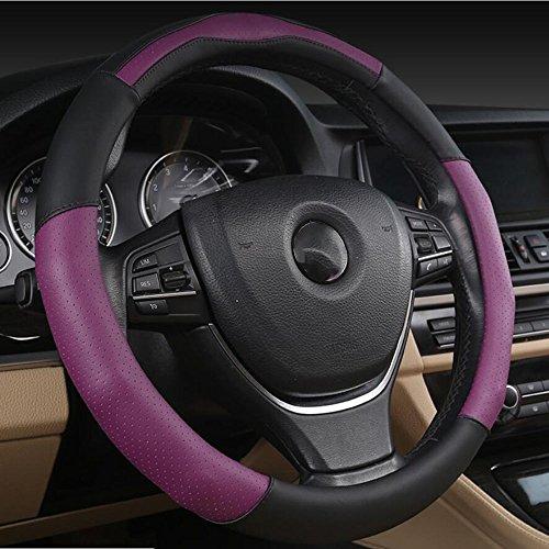 xiaoya Auto Lenkradbezug, Mikrofaser Leder, universell passend 38cm, violett