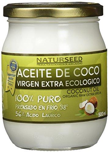 Naturseed Aceite de Coco Orgánico Virgen Extra Ecologico 500 ml para deportistas y para cocinar