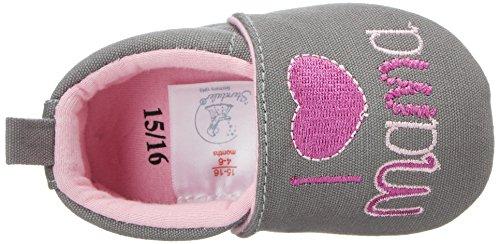 Sterntaler Baby Mädchen Krabbelschuh Grau (Steingrau)