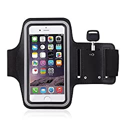 Digital Dukan Stylish Sports Armband Case | Ideal For - Running, Jogging, Cycling & Workouts | Compatible With Samsung Note 2 & 3, iPhone 6, iPhone 6 Plus, Sony, Intex, LG, Microsoft and All Cell Phones of 5.7 Inch | Black