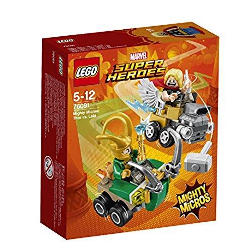 LEGO Marvel Super Heroes Mighty Micros: Thor vs. Loki 76091 Beliebtes Superheldenspielzeug für Kinder (Lego Super Heroes-thor)