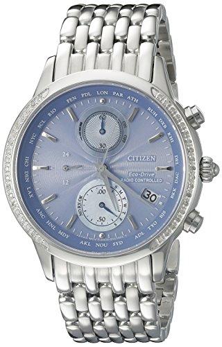 Citizen Women's 38mm Steel Bracelet & Case Quartz Blue Dial Watch FC5000-51L