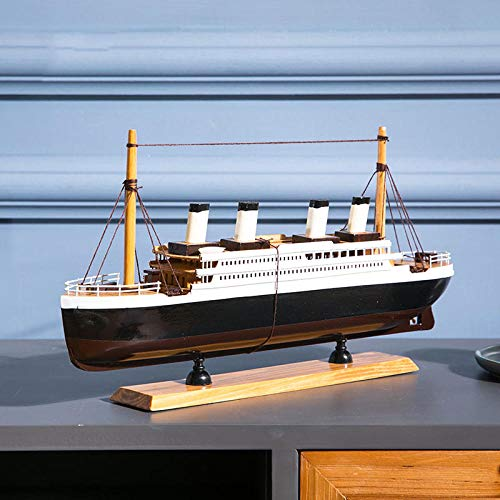 POTOLL Modellbausatz Schiff Wasserfahrzeug-Modellbausätze Model Schiff 40 * 21 cm Mit Speicherfunktion Simulation Klassische Kreuzfahrtschiff Fertig Schiffsmodell Wohnzimmer Dekoration Schiffsmodell
