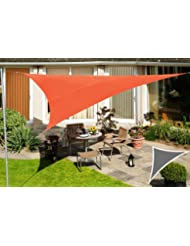 Kookaburra 4,2mx4,2mx6,0m Rechtwinkliges Dreieck Terrakotta Gewebtes Sonnensegel (Wasserfest)