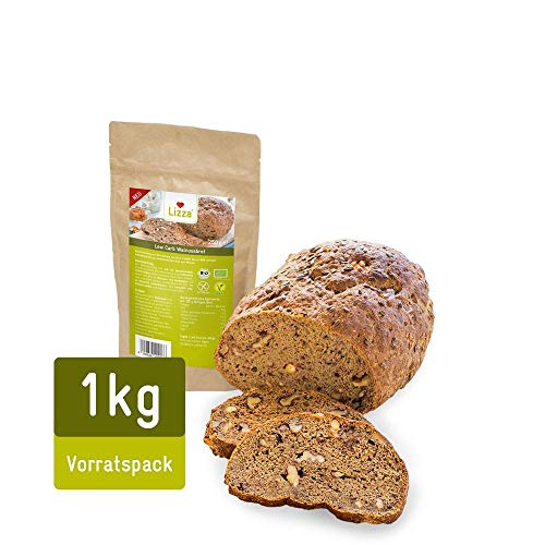Lizza Low Carb Walnussbrot Vorratspack | 1000g...