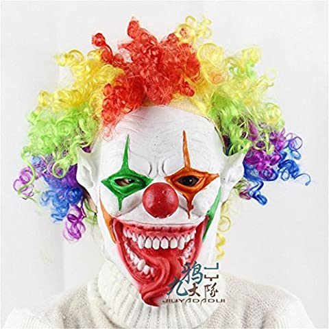 SQCOOL Horror Maske großen Mund Clown Dummkopf Halloween Party Performance Requisiten High-Profile weichen Kleber (Schwarze Katzen-kostüm Diy)