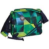 Chiemsee Umhängetasche Schultertasche mit Schnellverschluss, Messenger Bag, 38 x 30 x 12 cm 14 Liter Grün (Square Blazing) 5060018