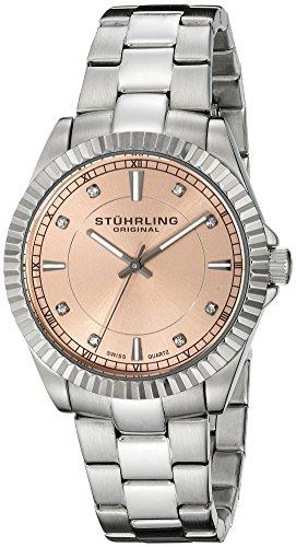 Stuhrling Original 408L.12114 Damen-Armbanduhr Analog Quarz Edelstahl