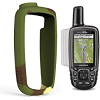 TUSITA Funda Protectora con Protector de Pantalla para Garmin GPSmap 62, 62s, 62st, 62sc, 62stc, 64, 64s, 64st, 64sc Navegador GPS de Mano, Accesorios de Silicona para Piel de Repuesto (Camo)