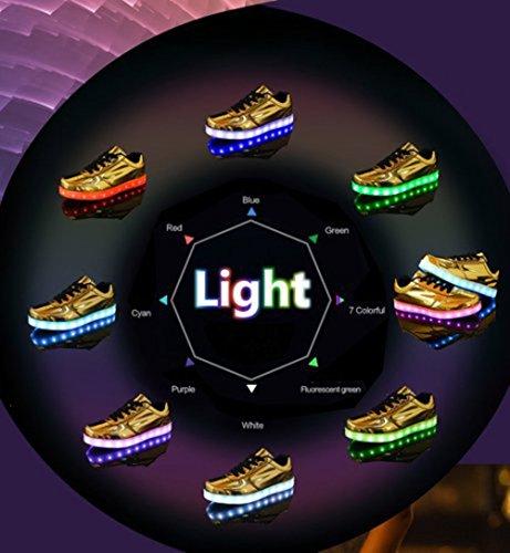 [Presente:piccolo asciugamano]JUNGLEST® 11 colori led luminoso-Scarpe da ginnastica Unisex, in stile Casual, per scarpe-Coppia di luci led, c18