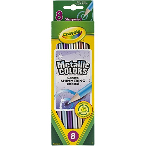 Crayola Metallic farbigen Bleistifte, mehrfarbig, 21.31X 6.12X 0,91cm