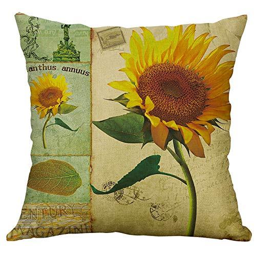 Qinpin Kissenbezüge, für Zuhause, Auto, Bett, Sofa, dekorativer Brief-Kissenbezug, Baumwolle und...