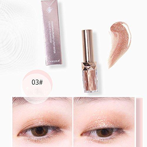 Eyeshadow Palette,Ombre à paupières Diamond avec fard à paupières métallisé à la mode,Naturel Longue Durée Cosmétique (C)
