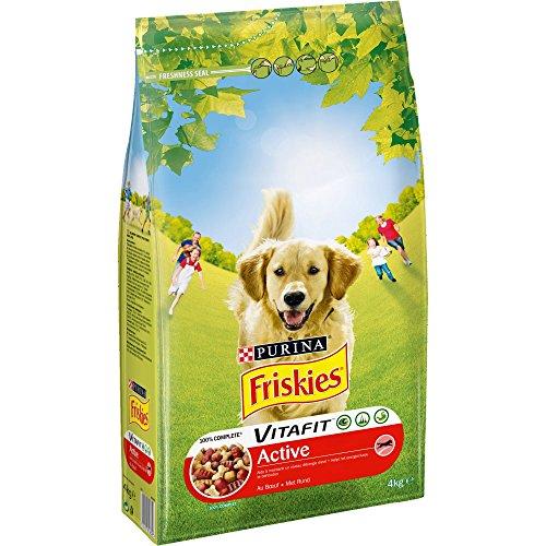 Friskies Vitafit Active : au Bœuf- 4 KG - Croquettespour Chien Adulte - Lot de 4
