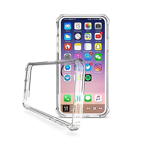 custodia trasparente rigida con tasca iphone x