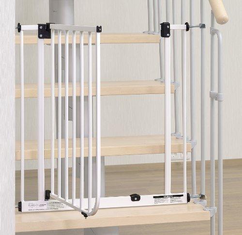 Impag® Treppenschutzgitter 73 – 142 cm für einseitiges Geländer 2 Y-Adapter zum Klemmen ohne Bohren EasyStep + 20 - 2