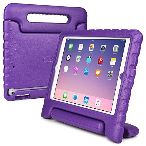 iPad Air Kinderhülle, COOPER DYNAMO Beanspruchbare, strapazeirfähige, robuste, gepolsterte Hartschalenhülle mit integriertem Griff, Standfunktion & durchsichtigem Displaysschutz (Violett)