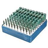 EsportsMJJ 100Pcs 3Mm/4Mm/5Mm/7Mm/10Mm Rotativo In Gomma Abrasiva Assortita Burr Point Kit Per Dremel