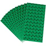 Premium Big Briks Green Baseplate Set - 12 Pack - (Big LEGO DUPLO Compatible) - Large Pegs