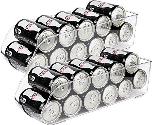 greenco Kühlschrank und Gefrierschrank Getränkehalter Lagerplatz, 34,3x 14x 9,5cm clear- (2Pack) - Binz Kühlschrank